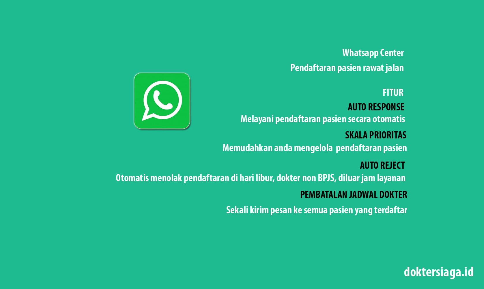 Whatsapp Center Pendaftran Pasien